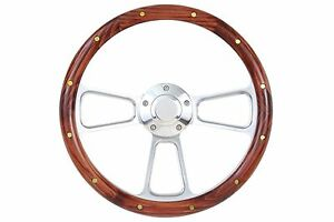Impala Steering Wheel Wood Billet Aluminum Includes Matching Adapter 1969 1994
