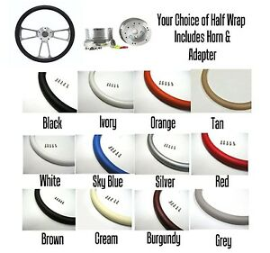 New World Motoring Street Rod Steering Wheel Chrome Your Choice Of Color