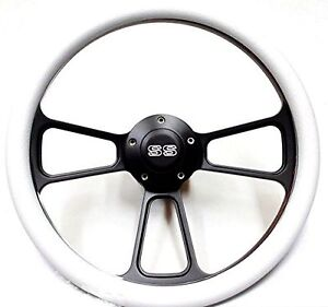 1967 1968 El Camino 14 Billet White Steering Wheel Chevy Ss Horn