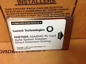 Lucent Partner Asa dxd Pc Card Auto System Answer Direct Ext Dialing 108358722