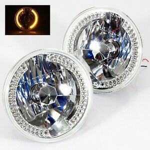 1979 1981 Toyota Pickup 7 Round 6014 6015 6024 Chrome Diamond Headlights Am