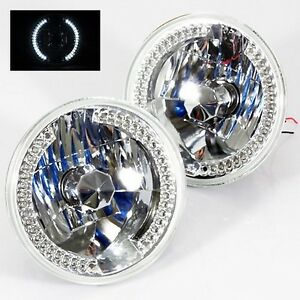 1979 1981 Toyota Pickup 7 Round 6014 6015 6024 Chrome Diamond Headlights Wh