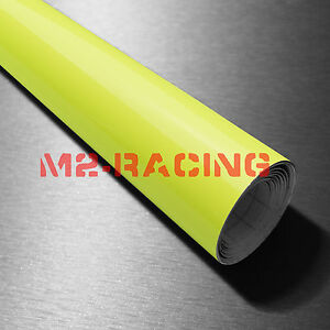 39 x300 Fluorescent Yellow Vinyl Self Adhesive Decal Plotter Sign Sticker Film