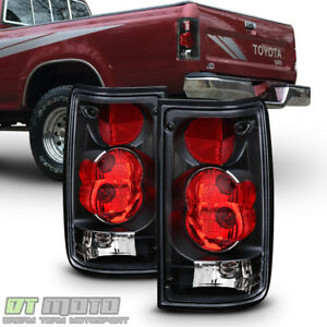 For Blk 1989 1995 Toyota Pickup Truck Tail Brake Lights Aftermarket Left Right