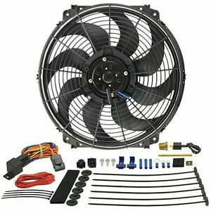 Derale 16016 16 Tornado Electric Cooling Fan With Thermostat Hardware Kit