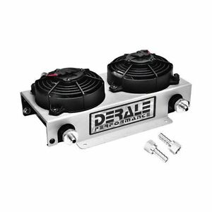 Derale 13740 19 Row Hyper Cool Dual Cool Remote Cooler Kit 6an Inlet Size