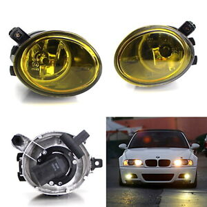 Gold Yellow Fog Lights W Halogen Bulbs For 01 05 Bmw E46 M3 3 Series 99 02 M5