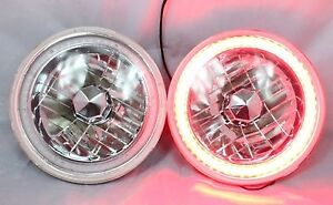 New Worl Motoring 97 16 Jeep Wrangler Tj Jk 7 Red Led Smd Halo Round Chrome