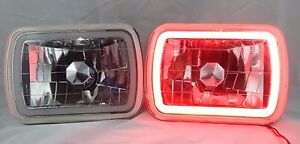 1978 1983 Ford F 100 7x6 H6014 6052 6054 Chrome Crystal Ccfl Ring Halo Red He