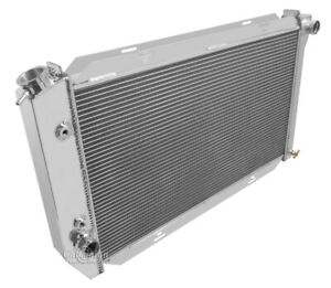 1971 1973 Ford Mustang Radiator Champion Polished Aluminum 3 Row Dpi 381