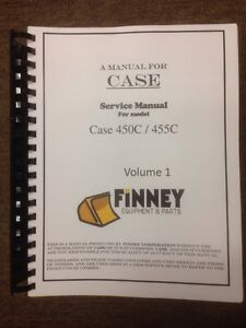 Case 450c Dozer Loader Service Repair Technical Manual Book 2 Volume