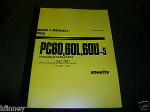 Komatsu Pc60 5 Pc60 Hydraulic Excavator Operation Maintenance Manual Book