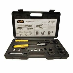New Apollo 69ptkh0015k 4 In 1 Multi Head Pex Plumbing Crimping Tool Set 7044951
