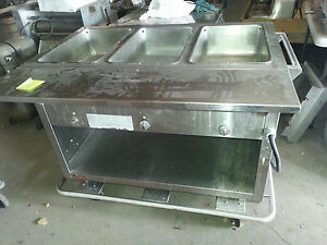Duke 3 Well Steam Table Portable Hot Food Unit
