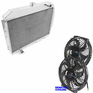 1968 1974 Amx Radiator Champion 3 Row Aluminum Replacement 12 Fans