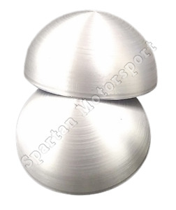 4 Diameter Aluminum Discs Round Domed End Caps 3003 1 32 Thick Set Of 2