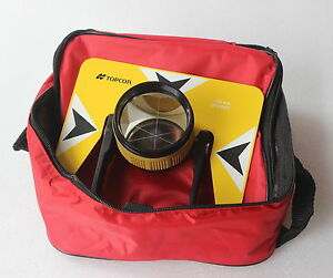 Yellow Topcon Metal Prism W bag For Topcon Pentax Nikon Total Station Surveying