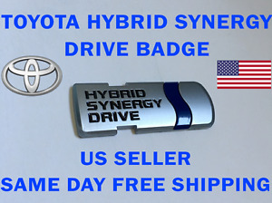 Toyota Hybrid Synergy Drive Car Emblem Badge Prius Camry Highlander Us Seller