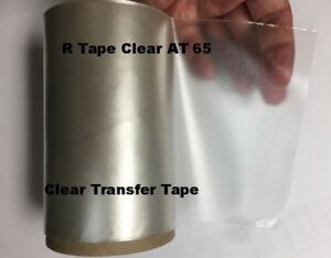 Transfer Tape Clear 1 Roll 5 X 15 Feet Application Vinyl Signs R Tape