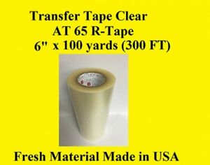 Transfer Tape Clear 2 Rolls 6 X 300 Ft Application Vinyl Signs R Tape