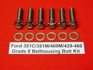 351c 351m 400m 429 460 Ford Automatic Stainless Arp Bellhousing Bolt Kit