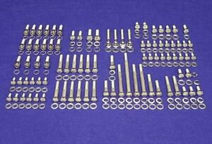 Sbf Ford Engine Bolts Kit Small Block 260 289 302 Stainless Steel Hex Screw Set