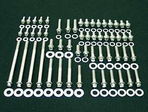 Mopar Engine Bolts Kit Small Block 273 318 340 360 Polished Arp Stainless Steel