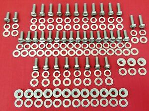 1937 1940 Ford Engine Bolts Kit 136 V8 60 Flathead Stainless Steel Hex Screw Set