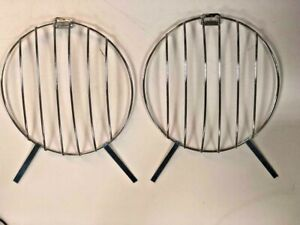 Vw Beetle Bug Bus Ss Porsche 356 Splitscreen Headlight Grills Grilles Mesh Pair