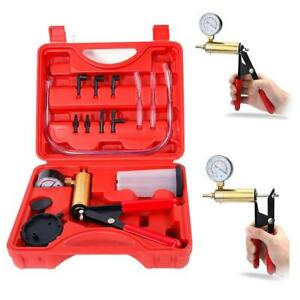 Car Hand Held Vacuum Pressure Pump Tester Set Brake Fluid Bleeder Bleeding Tools