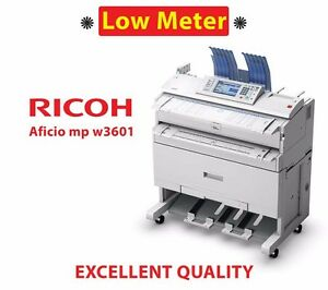 Ricoh Mpw3601 Plotter Color Scanner large Format B w Engineering Copy Printer