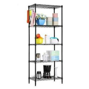 60 x22 x12 heavy Duty 5 Layer Wire Shelving Rack Adjustable Shelf Storage Holder