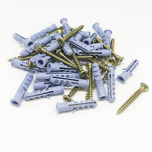 New 26 Pairs 3 5 X 30mm Drywall And Hollow wall Kit Screws Wall Anchors