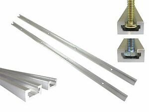 2 Each T Track 48 Aluminum 3 4 X 3 8 For 1 4 5 16 T Bolts 1 4 Hex Bolt
