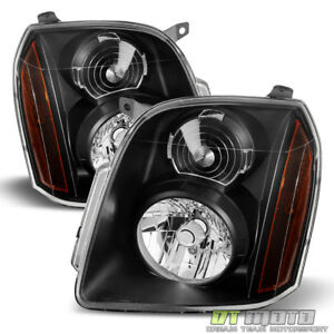Black 2007 2014 Gmc Yukon Xl 1500 2500 Denali Headlights Headlamps Left Right