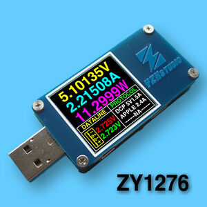 Colour Tft Dual Usb Power Monitor Yzxstudio Zy1276 Qc 3 0 Auto Without Bluetooth