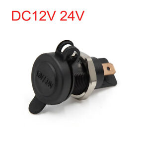 Dc12v 24v Waterproof Car Motorcycle Cigarette Lighter Power Socket Plug Outlet