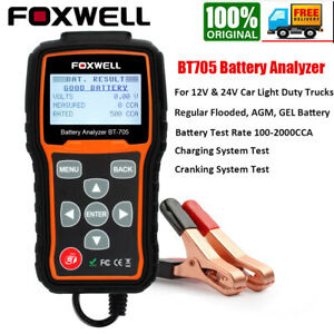 12v 24v Car Battery Load Tester Charging Cranking System Analyzer Tools 2000cca