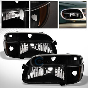 Black Clear Head Lights Corner Signal Lamps Amber Dy 4p 1995 2001 Ford Explorer