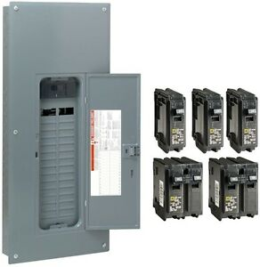 Square D 150 Amp 30 Space 60 Circuit Main Breaker Panel Load Center Value Pack