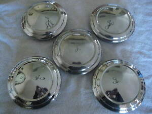1971 1977 Chevrolet Vega Set Of 5 Dog Dish Hubcaps Make Offer