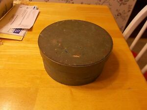 Original Green Painted Small Size Pantry Box From The 1800s Small Nail Construct