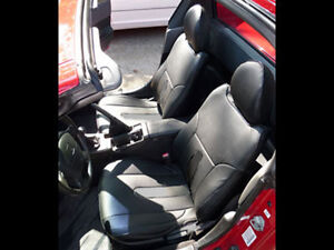 Honda Del Sol 1993 1997 Black S Leather Custom Fit Front Seat Covers