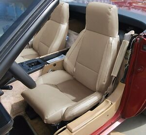 Chevy Corvette C4 Type3 1984 1993 Beige S Leather Custom Fit Seat Cover