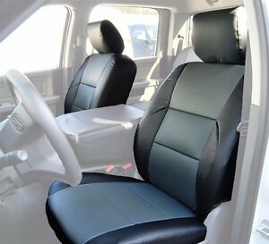 Dodge Ram 2009 2016 Black Charcoal S Leather Custom Made Fit Front Seat Cover