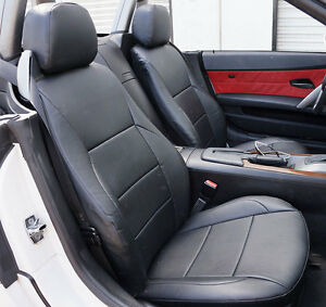 Bmw Z4 2003 2008 Black Iggee S Leather Custom Fit Front Seat Covers