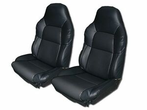 Chevy Corvette C4 Standard 94 96 Black S leather Custom Fit Seat Cover