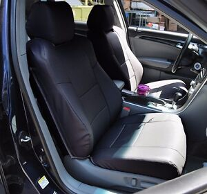 Acura Tl 2004 2008 Black S leather Custom Made Fit Front Seat Cover