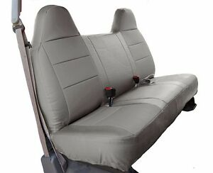 Ford F 250 350 Grey Iggee S leather Custom Fit Bench Front Seat Cover