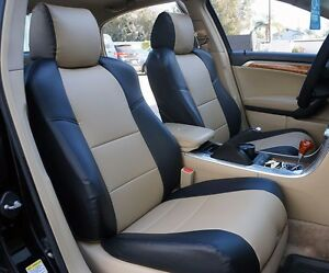 Acura Tl 2004 2008 Black beige S leather Custom Front Seat Cover
